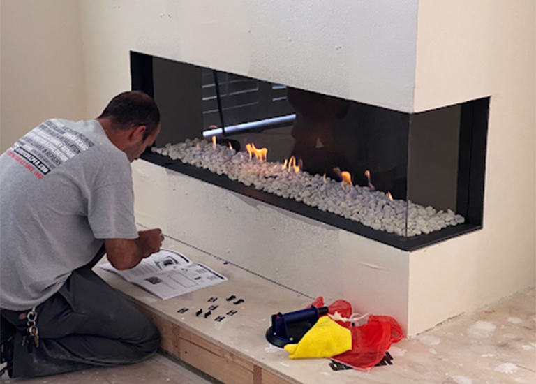 Fireplace Solutions The Chimney Sweeper Gas Fireplace Installation b | Services